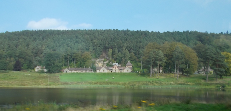 Cragside Hotel, seen from across the lake