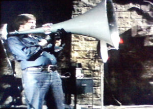 The giant megaphone-thing