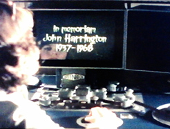 In memoriam John Harrington...