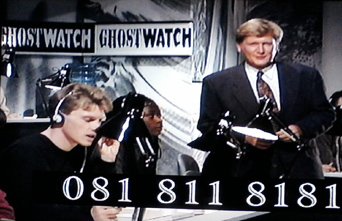 Mike Smith at the Ghostwatch phones