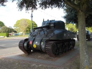 Tank outside the D-Day museum