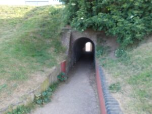 Nelson walked through this tunnel