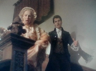 Barnabas chases Aunt Abigail