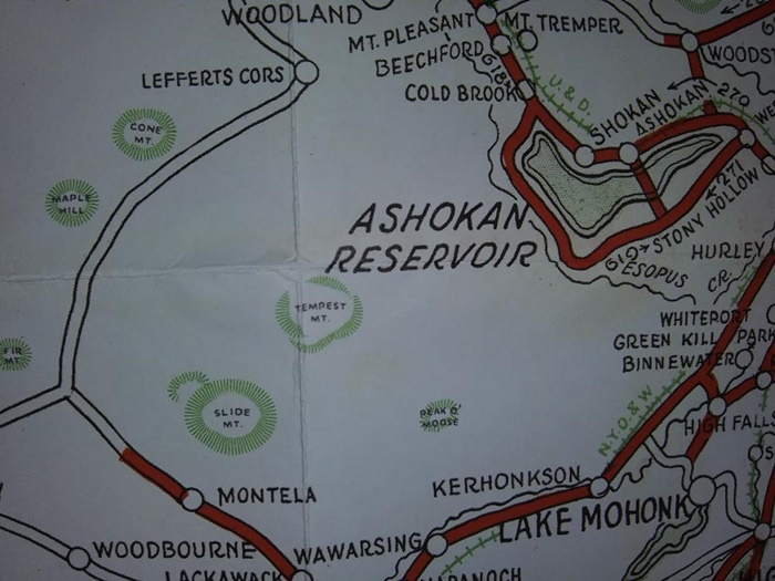 Map detail of Tempest Mountain