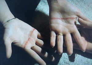 Marked hands