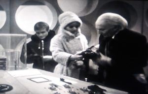 The Doctor, Ben, and Polly
